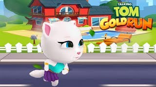 Talking Tom Gold Run Gameplay - Neon Angela