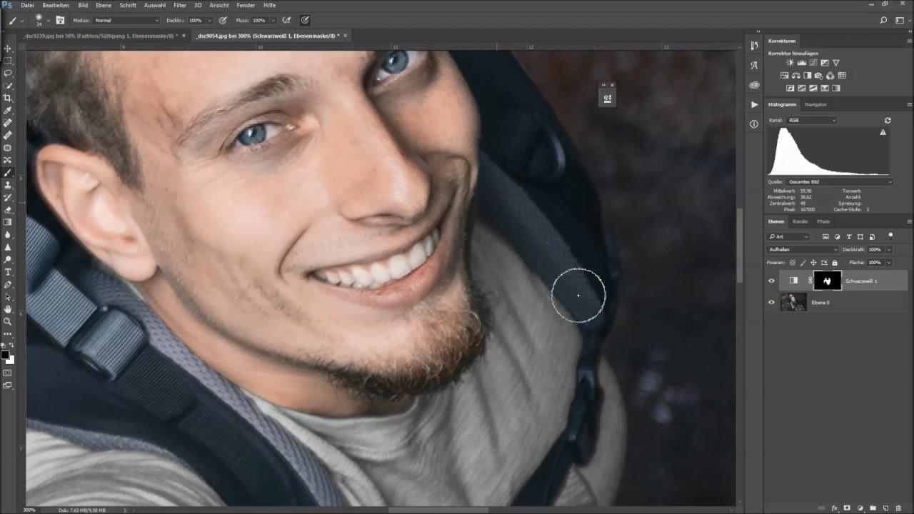 farben in weiß oder schwarz einfärben bzw ändern - photoshop tutorial