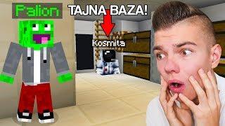 SZPIEGUJĘ KOSMITĘ w Minecraft... Ukrywał SEKRETNY POKÓJ!