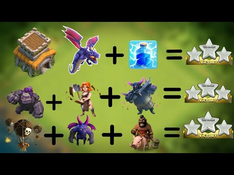 Top 3 TH8 ATTACK STRATEGIES 2018-19 | NEW  ATTACK STRATEGIES FOR WAR AND FARMING CLASH OF CLANS.