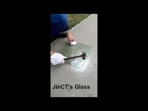 adhesion test for  tempered laminated glass