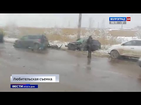 В ДТП на юге Волгограда пострадали два водителя