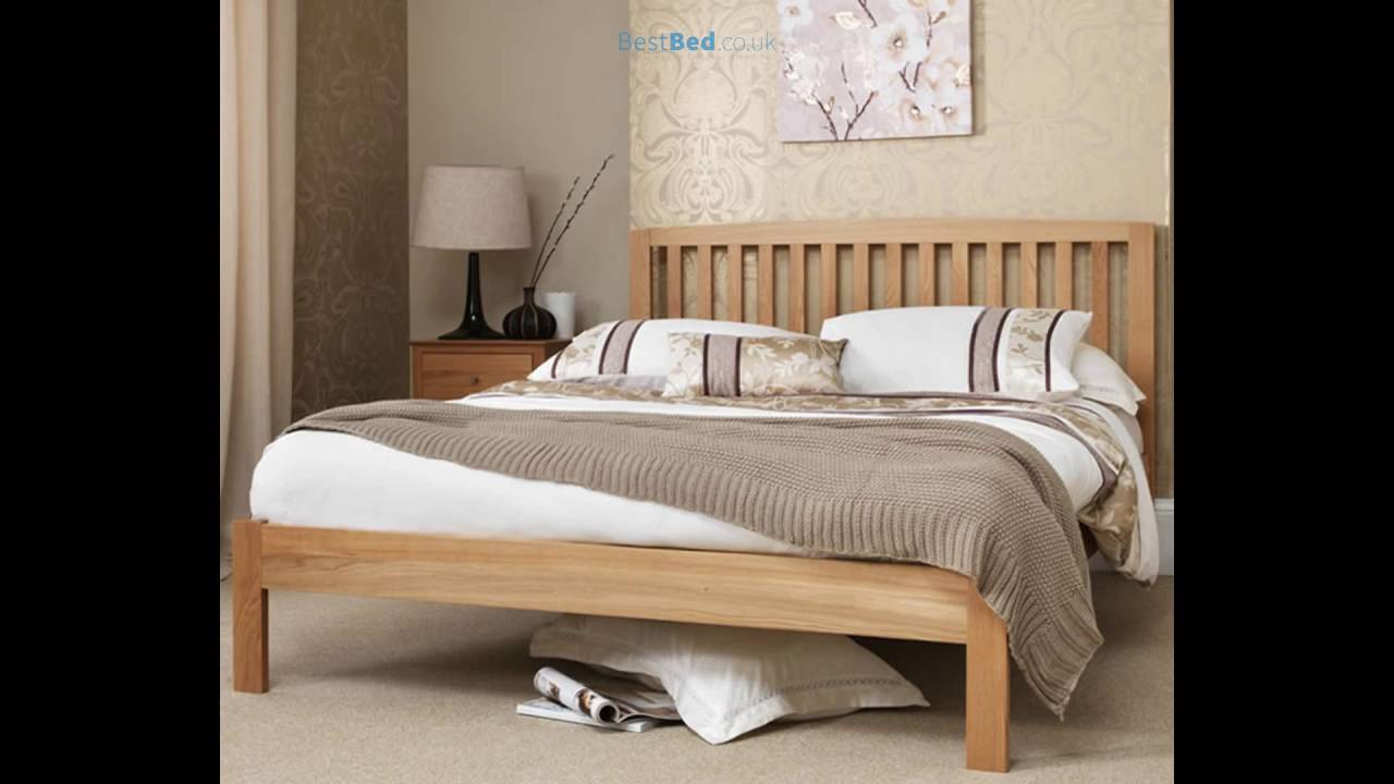 Thornton Oak 4ft Small Double Bed Frame - YouTube