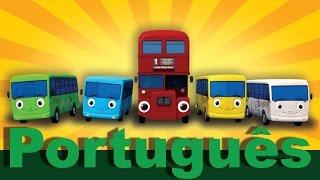 Dez Pequenos Ônibus | canções infantis | LittleBabyBum