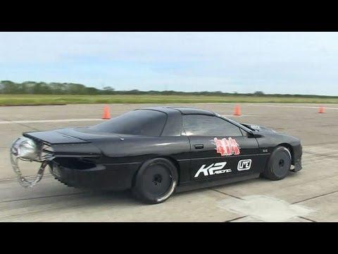 263.2MPH Twin Turbo Camaro - Texas Mile