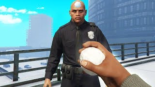 Knocking Out Cops With Snowballs! (GTA RP)