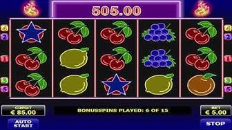 Free Spin Bonus Round On Hot Neon Slot Machine By Amatic