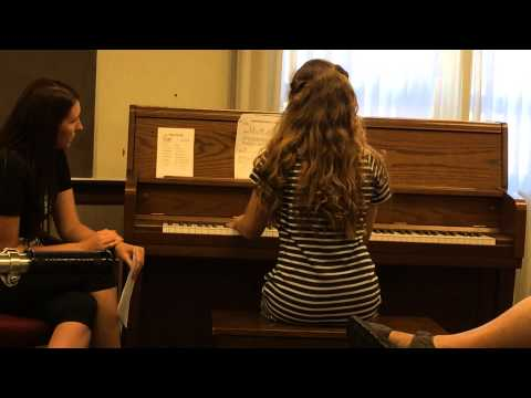 Alexa Hokanson plays at her  piano recital.