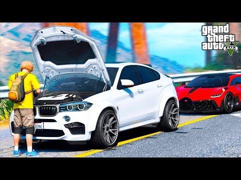 РЕАЛЬНАЯ ЖИЗНЬ В GTA 5 - У ГАРВИНА ЗАГОРЕЛСЯ BMW X6M! ПОМОГ БРАТУ ДОТОЛКАТЬ МАШИНУ! 🌊ВОТЕР