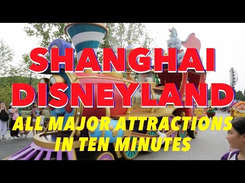 Shanghai Disneyland - All Major Attractions in 10 Minutes