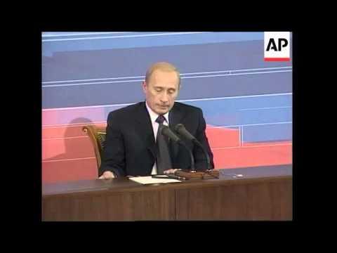 Putin comments on NATO, Mideast