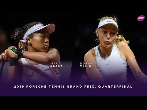 Naomi Osaka vs. Donna Vekic | 2019 Porsche Tennis Grand Prix Quarterfinal | WTA Highlights