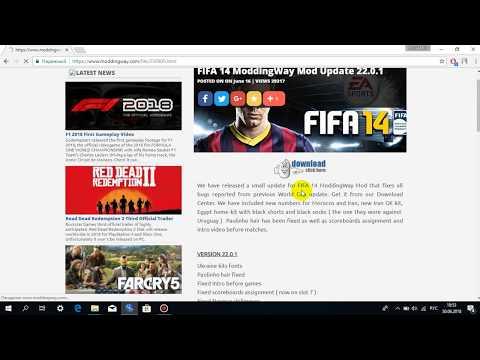Как установить патч Moddingway 22.00 на FIFA 14 (World Cup 2018)