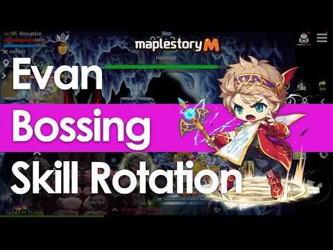 MapleStory M - Evan Boss Skill Rotation