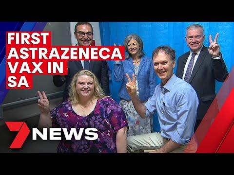 COVID Australia: First Astrazeneca coronavirus vaccines administered at Murray Bridge | 7NEWS