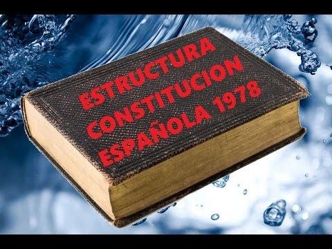 Estructura Constitución Española 1978 Lo básico - YouTube