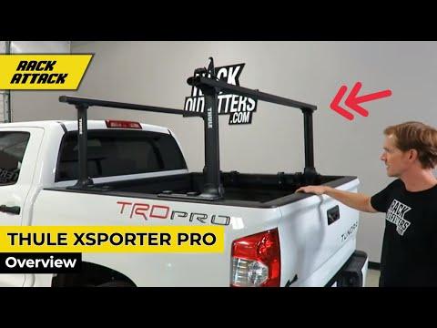 Thule 500xtb Xsporter Pro Height Adjustable Aluminum Truck Bed Rack Youtube