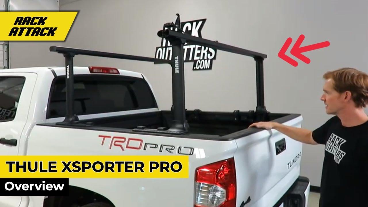 thule 500xtb xsporter pro height adjustable aluminum truck bed rack