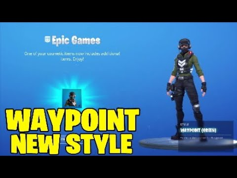 Fortnite Waypoint Skin New Style.GREEN