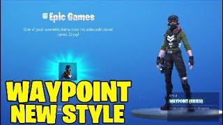 Fortnite waypoint skin new style. GREEN