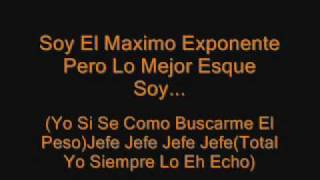 Daddy Yankee Jefe Letra