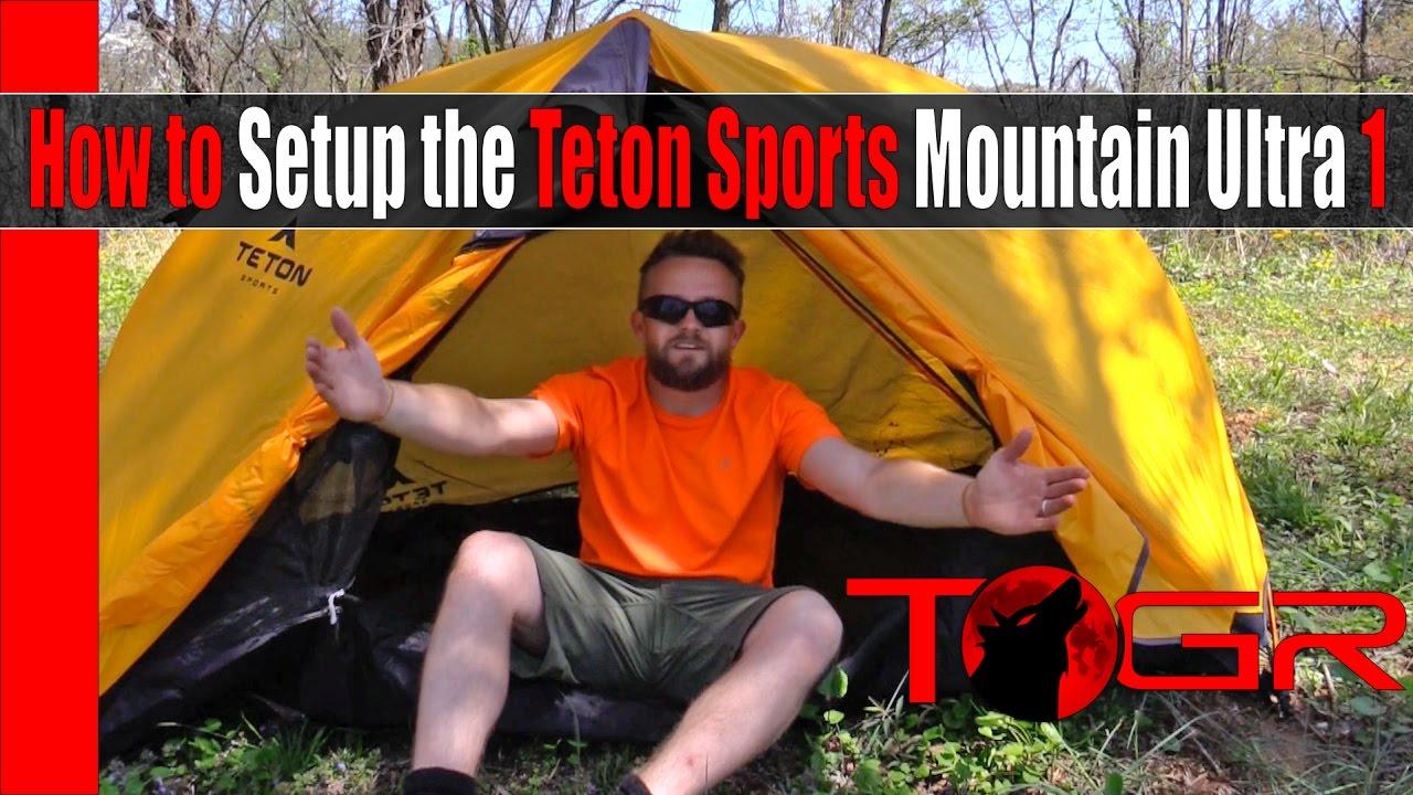 How to Setup the Teton Sports Mountain Ultra 1 & How to Setup the Teton Sports Mountain Ultra 1 - YouTube