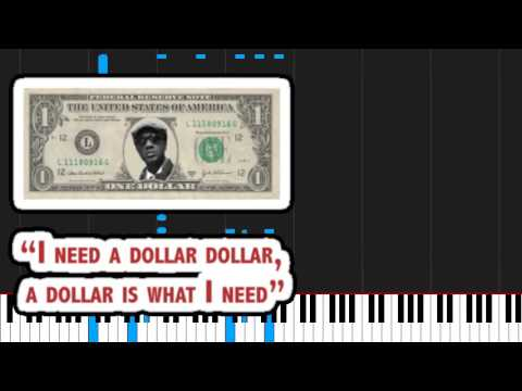 How To Play I Need A Dollar By Aloe Blacc On Piano Sheet Music Youtube