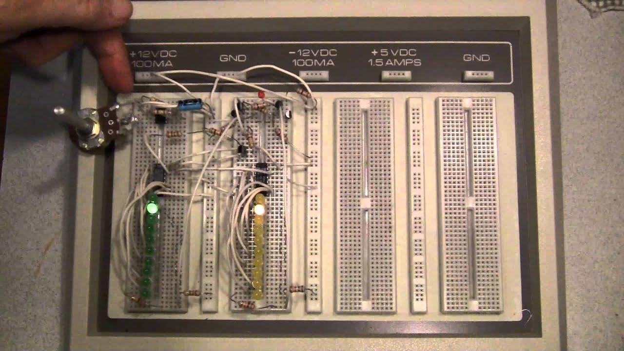 Xor Gate Sync Demo 555 Timer 4017 Decade Counters Youtube Basic Astable Ic Flasher Ledandlightcircuit Circuit