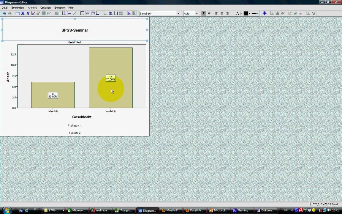SPSS Video-Seminar # Teil 8: Datenexploration -- Balkendiagramm ...