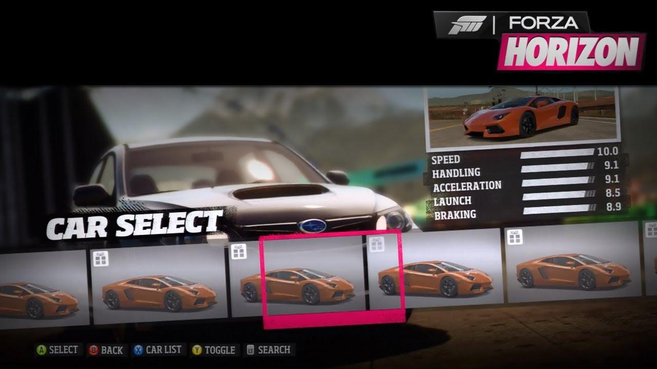 Forza Horizon  Loyalty Cars