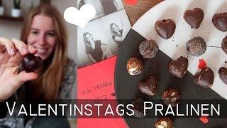 DIY Valentinstag Pralinen - Geschenkidee