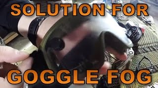 Direwolf Airsoft - The Solution for Goggle Fog & other Anti-Fog Options