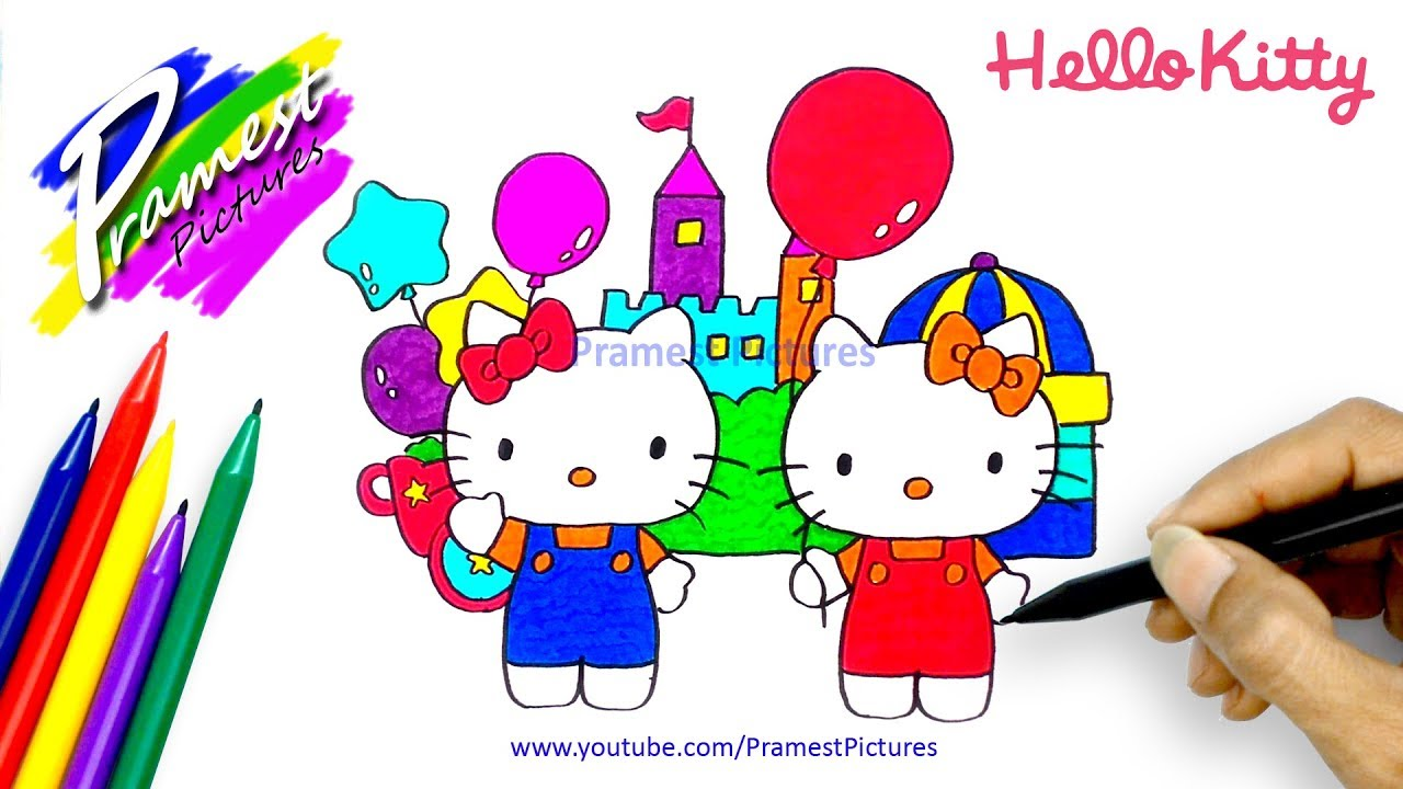 How To Draw Hello Kitty Coloring Pages