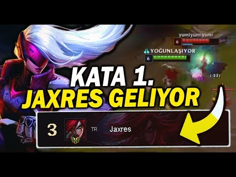 Jaxres | TR KATARİNA 3.SÜ OLDUM!! | League Of Legends thumbnail