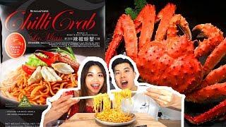 Singaporean chilli crab flavored instant noodles
