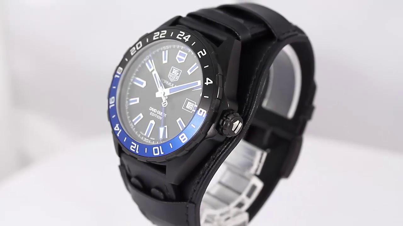 finest selection 5b070 c7d49 タグホイヤー フォーミュラ1・デヴィットゲッタエディション レザーベルト 自動巻き 腕時計 43mm/ブラック/WAZ201A/TAG  HEUER■198727