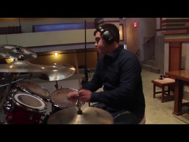 Drumming inside of Unity Temple, Oak Park, IL