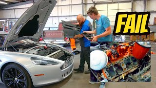 homepage tile video photo for My First ANNOYING Aston Martin Rapide Problem & RUNNING A FLATHEAD FORD V8 WITHOUT A CYLINDER HEAD?