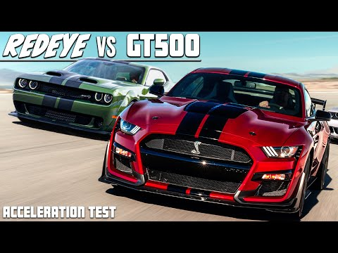 2020 SHELBY GT500 IS FASTER THAN THE HELLCAT REDEYE! (Acceleration Test!)