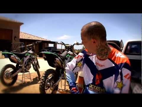 Twitch and His New KX450F(2010)Plus Maintenance With Ben Foster - Part 2