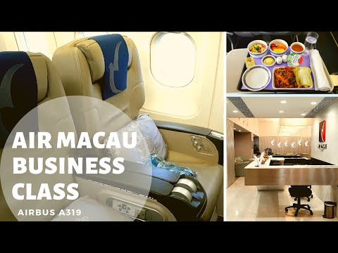 Air Macau Business Class Review A319 Macao - Bangkok + Air Macau Lounge | NX886