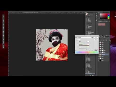 Friday Guy - 60 Second Geisha Girl Creation Timelapse - #fridayguy