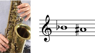 alto sax: how to play b-flat (a-sharp)