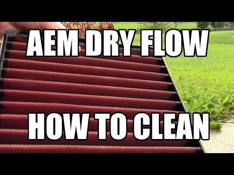 AEM Dry Flow Filter Cleaning - How To