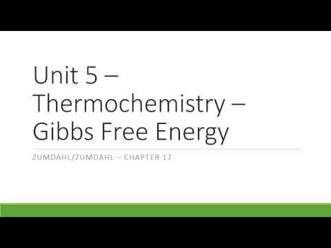 AP Chem Unit 5 Video Lecture 4 Free Energy