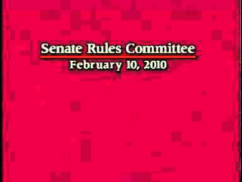 Senate Rules Committee 2/10/2010