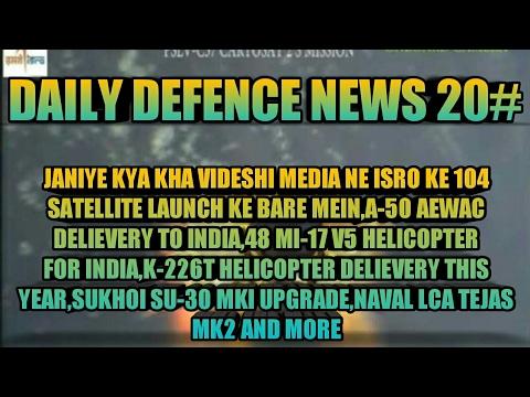 FOREIGN MEDIA ON ISRO 104 SATELLITES LAUNCHA-50 AEW&C,MI-17 V5,K-226 T,SUPER SUKHOI,NAVAL LCA & MORE