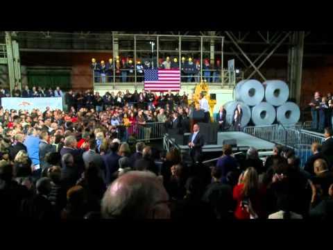 President Obama at Cleveland Steel Plant