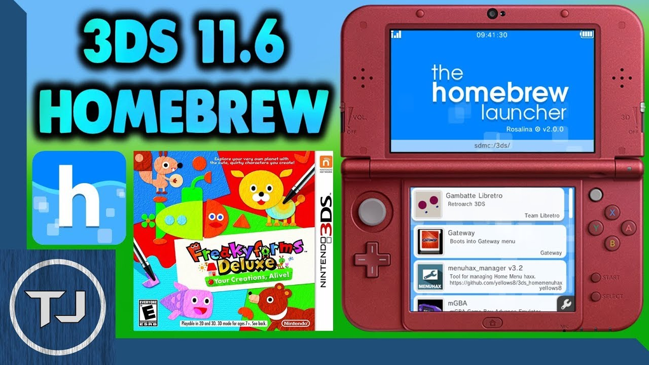 3DS/2DS 11 6 Homebrew Launcher Exploit! (FreakyHAX) 2017!