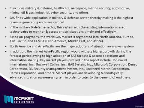 World Situation Awareness System (SAS) Market to grow at a CAGR of 8.2% by 2022